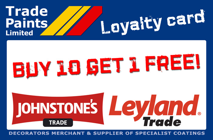 Buy 10 Get 1 Free Trade Paints