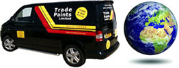 Trade paints delivery van